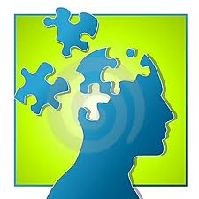 puzzle pieces with head
